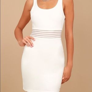 Lulus White bodycon dress